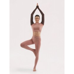 Completo Yoga Donna: Legging e Maglia BEGOOD - Rosa Antico